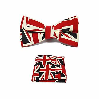 Union Jack Design Vlinderdas & Pocket Vierkante Set
