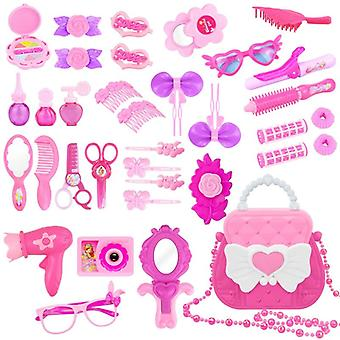 Makeup For With Cute Bag, Simulation Toy, Diy Dressing Cosmetic Princess