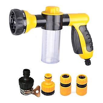 Multi-function 8 patterns foam water sprayer with 4 pipe joints for car cleaning washing