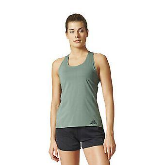 Adidas Kvinner Climachill Stripete Topp Tee Fitness Vest S98263