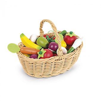 Janod frugt og grøntsager kurv 24pc