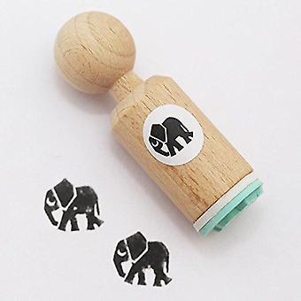 Elefant runde gummistempel - meget MINI - håndværk / Scrapbooking / stempling