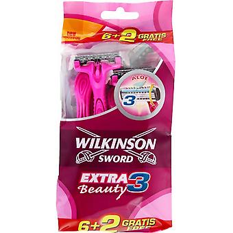 Wilkinson Extra Iii Beauty Bag 6 + 2 Units
