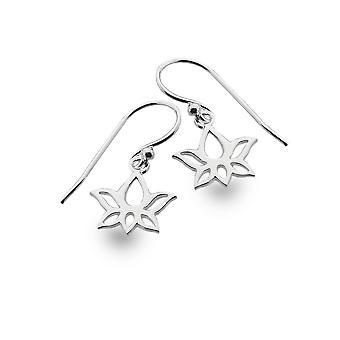 Sterling Silver Earrings - Origins Lotus Flower Simple