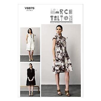 Vogue coser patrón 8876 se pierde el tamaño del vestido 8-16 Uncut March Tilton