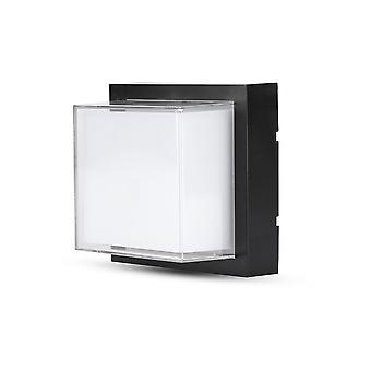V-tac VT-831 LED Wandlamp – 7W – 3000K – 400 Lumen – Zwart - Vierkant