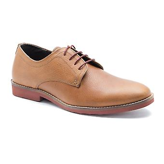 Red Tape Bromham Tan Honey Milled Leather Formal Mens Derby