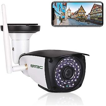 HanFei 5MP berwachungskamera Aussen WLAN, Super HD WiFi IP Kamera fr Auen mit Zwei-Wege-Audio,