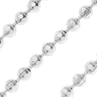 Silver Plated Faceted Ball Chain, 2mm, par Nunn Design, par le pied