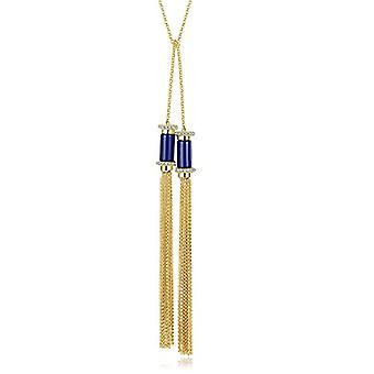GemShadow - Gold Plated Necklace 18 kt with lapis lazuli