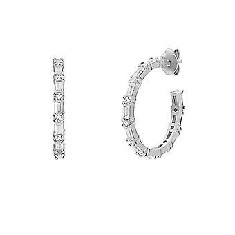NOELANI Women's hoop earrings, sterling 925 silver, with zircons(6)