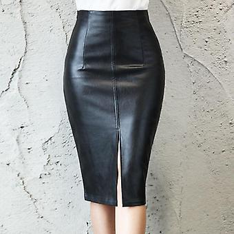 Women High Waist Bodycon Split, Midi Skirt