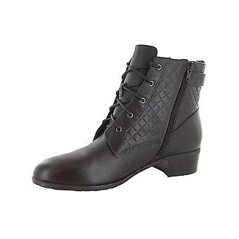 Isaac Mizrahi Live Womens Sam Leather Ankle Boots