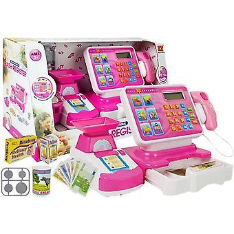 Speelgoed kassa set met weegschaal – Roze