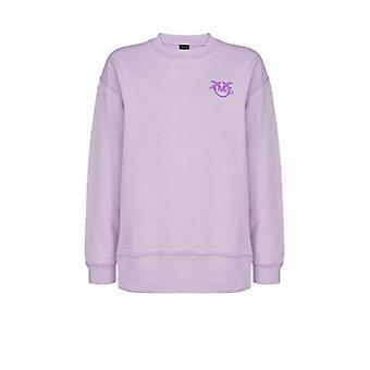 Pinko Sano Lilac Cotton Sweatshirt