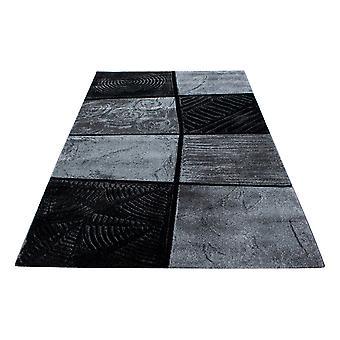 ShortFlor diseñador alfombra moderna pelar patrón contour corte gris negro fundido