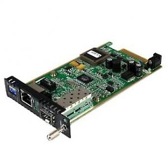 Gigabit Ethernet Fiber Media Converter Card Module with Open SFP Slot