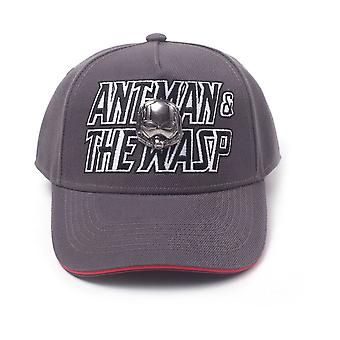 Marvel Comics - Geborduurd logo met 2D metalen helm badge Unisex Pop-Lock fitting riem cap - grijs / rood