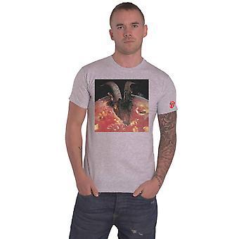 The Rolling Stones Camiseta Cabras Cabeza Sopa Banda Logo nuevo Oficial Mens Grey