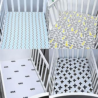 new b bed fitted sheet crib triangle design bedding protector sm17934