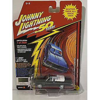 1969 Chevy Impala Convertible Fathom Green Johnny Lightning 50th Year 1:64 JLCG018B