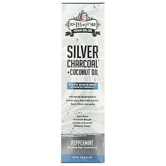 My Magic Mud Silver Charcoal Dentifricio menta piperita, 4 Oz