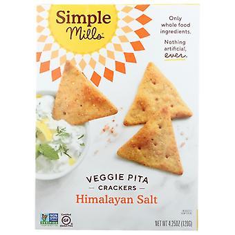 Simple Mills Cracker Pita Himalyn Sslt, Kotelo 6 X 4,25 Oz
