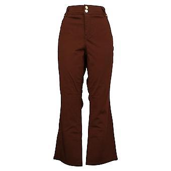 IMAN Global Chic Women's Jeans Petite 360 Slim Boot-Cut Brown 703305273