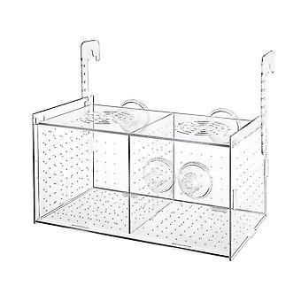 Gennemsigtig akryl fisk avl tank isolation boks akvarium inkubator rugekasse