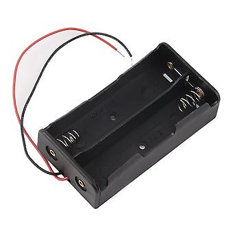 Plastic Battery Storage Case Box Holder For 2 X 18650 3.7v With Wire Leads