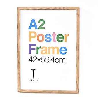 iFrame Wood Finish Poster Cadre A2