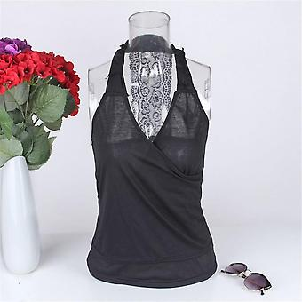 Fashion Women Summer Charming Vest Tops Strapless Backless Lace Stitching Vest