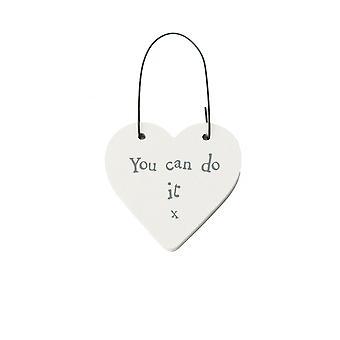 Du kan gjøre det - Mini tre hengende hjerte - Cracker Filler Gave