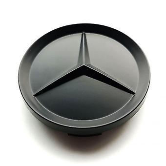 Matt Svart Mercedes Benz Wheel Center Caps Hub Badges 75mm 1 ST För A B C E S G CLASS CLA CLS SLK ML AMG