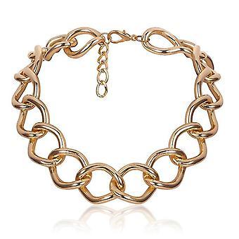 Punk Lock Choker Necklace, Pendant Women Collar Chunky Thick Chain(Golden6)