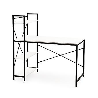 Bureautafel met boekenkast - wit - 120 x 60 x 120 cm