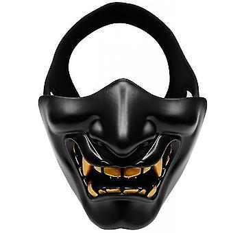 Devil Horror Grimace Adult Half Face Mask(Black)