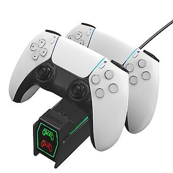 Ps5 Handle Dual Charging Base With Led Indicator Light And Use Switch