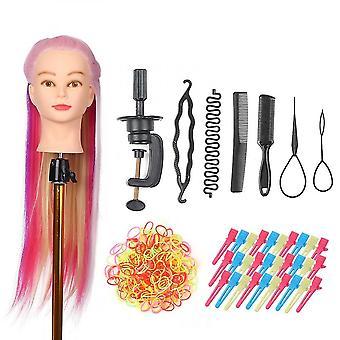 Mannequin Kopf mit Klemmhalter zum Flechten Haar Styling Praxis Manikin Kopf Für