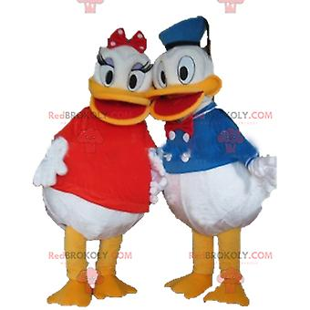 2 Mascotte REDBROKOLY.COMs de Daisy et Donald célèbre couple Disney