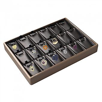 Jewelry 18 Slots Storage Pendant Necklace Rings Collections Display Tray