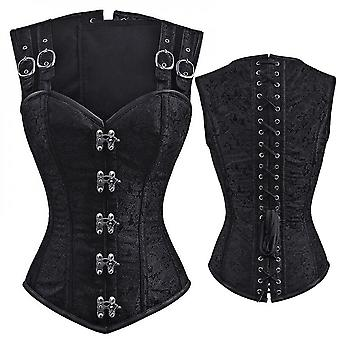 Steampunk Corset Sexy Bustier Top Gothic Leather Corset Overbust Corse