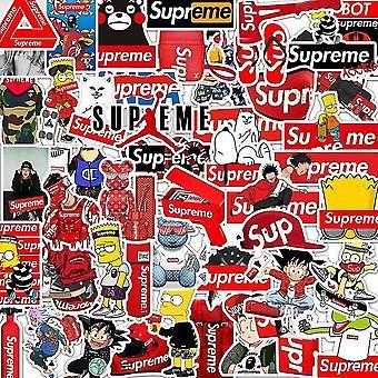 50 stuks Supreme Gadget Stickers Stickers Herbruikbaar Vinyl