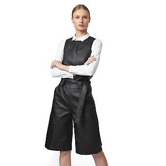 Shuuk Ultra-Modern Eco-Leather Bermuda Short - Durable Comfortable with Tie Belt