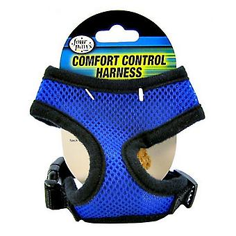 """Four Paws Comfort Control Harness - Blue - X-Small - For Dogs 3-4 lbs (11""""-13"""" Chest & 7""""-8"""" Neck)"""