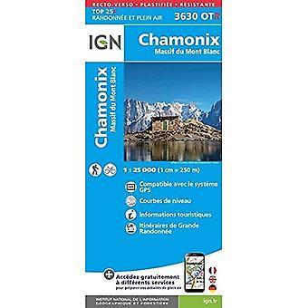 Chamonix / Massif du Mont Blanc 2017: IGN.P.3630OTR (Sheet map, folded)