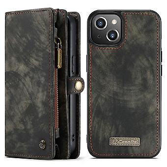 CASEME iPhone 13 Retro plånboksfodral - Svart