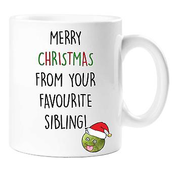 Merry Christmas From Your Favourite Sibling Mug