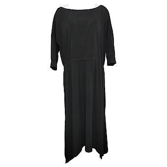 Brittany Humble Petite Dress B.E. Ready Dolman Sleeve Midi Black 753827