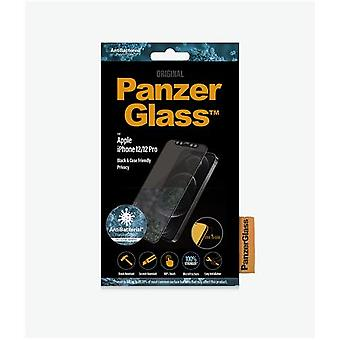 """PanzerGlass for iPhone 12/12 Pro, glass, black, privacy glass, 6.1"""""""